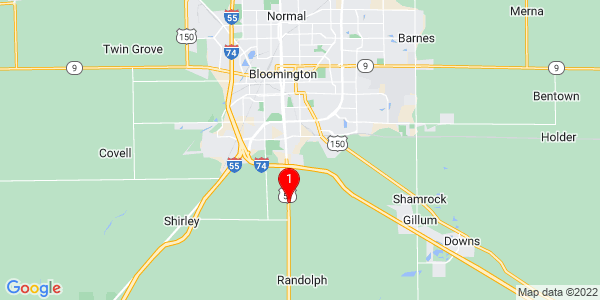 Google Map of Bloomington City, IL